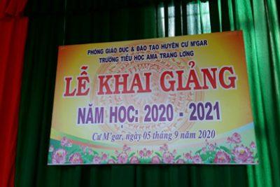 Sáng nay, mồng 5/9 trường Tiểu học Ama Trang Lơng long trọng tổ chức lễ khai giảng năm học mới với bao niềm vui và niềm hi vọng.