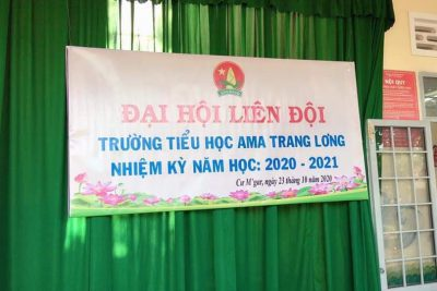 Liên đội trường Tiểu học Ama Trang Lơng đã tổ chức thành công Đại hội Liên đội nhiệm kỳ 2020 – 2021.