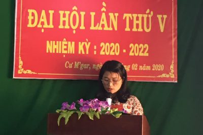Đại hội Chi bộ trường Tiểu học Ama Trang Lơng nhiệm kỳ 2020-2022